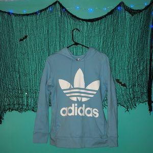 BabyBlue Adidas Pullover Hoodie
